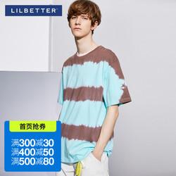 Lilbetter男士t恤短袖宽松条纹t恤衫港风半袖潮2020新款夏天男装