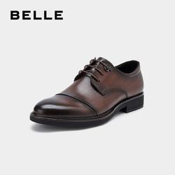 BELLE/百丽秋季牛皮革商务正装男皮鞋21620CM9A