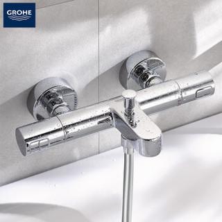 GROHE/高仪 欧洲进口恒温花洒套装 200MM顶喷  4式出水手持 新天瀑恒温淋浴套装 套装(龙头有下出水)