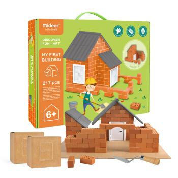 MiDeer/弥鹿  3D立体儿童DIY迷你仿真建筑房屋创意手工搭建模型玩具 泥瓦匠