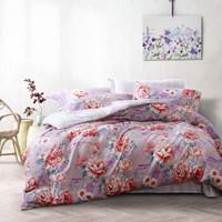富安娜出品 圣之花 磨毛四件套 印花床上套件 双人床单被套 花语海岸 1.5米/1.8米床 被套203*229cm