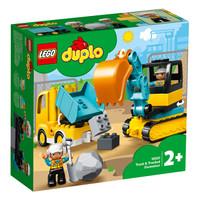 LEGO 乐高 得宝系列 10931 翻斗车和挖掘车套+LEGO 乐高 Creator3合1创意百变系列 31088 深海生物