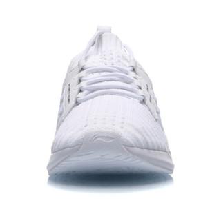 李宁 LI-NING 2019新品女子一体织减震回弹潮流休闲鞋AGLP072-3 标准白 37.5