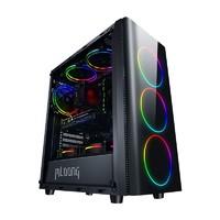 MLOONG 名龙堂 组装电脑 黑色(酷睿i5-10400、GTX 1660 Super 6G、16GB、256GB SSD)