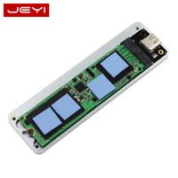 JEYI 佳翼 佳翼(JEYI)NVME硬盘盒 M.2转Type-c移动硬盘盒 USB3.1固态SSD全铝硬盘盒 10Gbps 太空灰|i9 GTR-2280