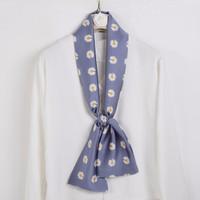 上海故事 细窄长条女士小丝巾