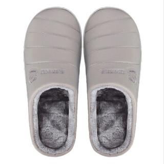 大嘴猴 Paul Frank 经典舒适防水加厚保暖棉拖鞋男款 灰色270 PF72646
