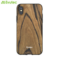 Evutec 苹果 iPhone X/XS/XR/XS Max 天然木质竹质手机保护壳
