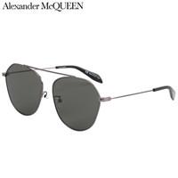 亚历山大·麦昆(AlexanderMcQUEEN)太阳镜男女 墨镜 银色镜片黑色镜框AM0212SA 001 62mm