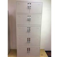 富庆源 办公柜 文件柜铁皮柜 带锁五节双锁文件柜 B-0011 厚0.8MM