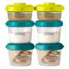 BEABA法国辅食盒食物储存罐奶粉保鲜多功能零食罐 一阶段60ml*2+120ml*4(绿)