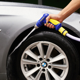 固特异(Goodyear)高压洗车水枪 家用庭院园艺不锈钢头水枪配两个止水接头