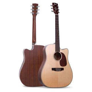 考特(CORT)Earth 75C单板民谣吉他41英寸初学者缺角哑光原木色