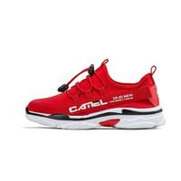 骆驼 CAMEL童鞋 儿童运动网面透气厚底跑步男女缓震鞋 A9280101753 红色 33