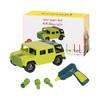 北美BATTAT玩具车男女儿童DIY玩具仿真车模大尺寸配件环保材质可反复拆卸组合模型多款可选 建造自己的吉普车