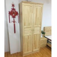 富庆源 两门松木衣柜 B-0122