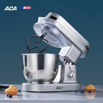 北美電器(ACA)廚師機家用和面機揉面機打蛋器全自動料理機打奶油機鮮奶機多功能攪拌機ASM-DM12K