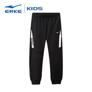 鸿星尔克(ERKE)童装男童裤子大童秋冬加厚童装针织儿童长裤 63219357170 焦炭花灰 150