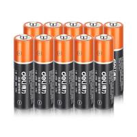 得力 18506 7号碱性电池(黑)10粒/盒