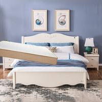 掌上明珠家居 1.5米双人床+床头柜×1+床垫 组合家具套装 ESA118-A158