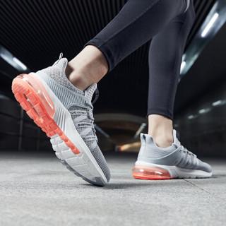乔丹 男鞋轻便休闲鞋气垫减震跑步鞋 XM2590205 纯质灰/活力橙 44.5