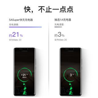 倍思 充电器 双USB二合一插头5A/QC3.0/PD快充双口二合一华为mate20/pro小米手机苹果笔记本通用30W充电头 黑