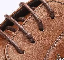 稻草人 MEXICAN 商务休闲皮鞋男士正装真二层牛英伦潮流百搭圆头系带保暖 棕色 40