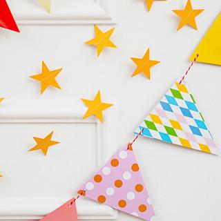 多美忆 生日气球套餐宝宝周岁儿童生日派对布置装饰用品卡通字母铝膜气球  彩拉旗背景套装