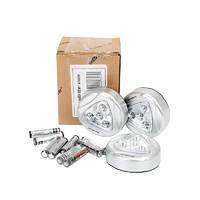 durabrite/杜锐特-3PC 3AAA 4LED银色触摸灯组套带电池-(D007006N)/1套