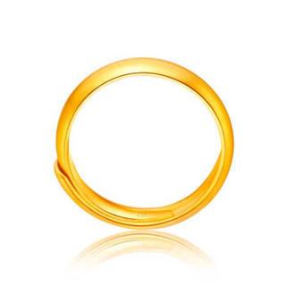 周大福(CHOW TAI FOOK)礼物 儿童首饰足金黄金戒指 F148026 48 约1.4克