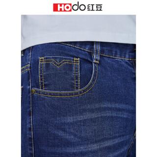 红豆 Hodo 男装 牛仔裤男2019春季新品微弹水洗中腰牛仔裤 B1蓝色 175/90A(35)