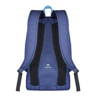 维克利奥(VICLEO)休闲运动背包双肩包女书包中学生男时尚潮流大容量旅游旅行包16Z21002藏蓝色