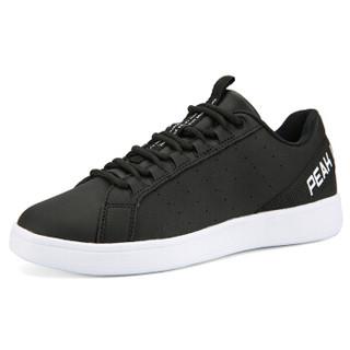 匹克(PEAK)男鞋休闲耐磨板鞋舒适潮流文化鞋 DB920097 黑色/大白 42码