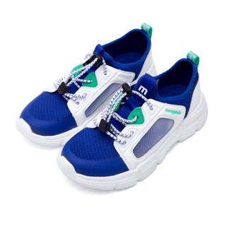 巴拉巴拉旗下梦多多mongdodo童装男中童运动鞋2019新款中大童运动鞋71102191403白蓝色调032