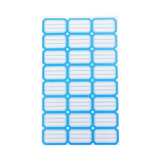 浩立信(LISON)202蓝色*50张 38*24mm(24枚/张) 不干胶粘纸贴 标签贴纸 自粘性标贴纸 口取纸 口曲纸