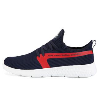 匹克(PEAK)男鞋舒适健步休闲鞋轻便耐磨运动鞋 DE910411 藏青 38码