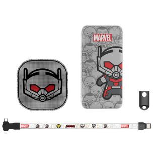 咪咕 漫威英雄系列移动电源礼盒套装 10000毫安移动电源+蓝牙音箱+三合一数据线 蚁人