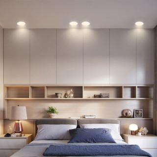 雷士(NVC) 雷士照明 LED筒灯天花灯 金属铝材砂银 4瓦正白光6000K 开孔7.5-8.5厘米