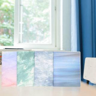信发(TRNFA)磨砂软面胶套本 4本装 32K小清新创意手账学生记事本笔记本子日记本 自然画卷颜色随机