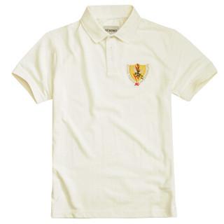 AK男装 (AKSERIES)绣花基本款男式POLO 1916202 米白 XXXL