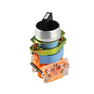 德力西电气(DELIXI ELECTRIC)旋钮开关 LAY8-11X 黑 二位置(10个装) 可定制