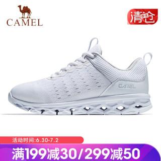 骆驼(CAMEL) 运动鞋男女跑步鞋时尚休闲情侣款鞋子透气超轻跑鞋 A912600035 男款白色 40