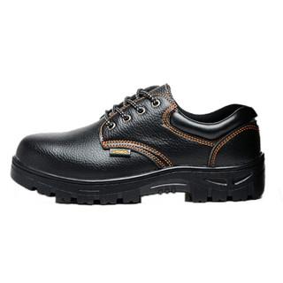 维致 劳保鞋男透气轻便 钢包头防砸防刺穿工地安全靴 WZ2004 黑色橘红线 45