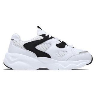 斯凯奇(Skechers)熊猫休闲鞋 女款厚底复古拼接时尚 88888129-WLPK 白色/黑色 41
