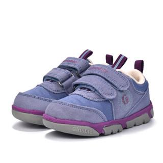 基诺浦2018新秋款婴儿机能鞋宝宝学步鞋男女童鞋运动鞋TXG692 风暴蓝 11