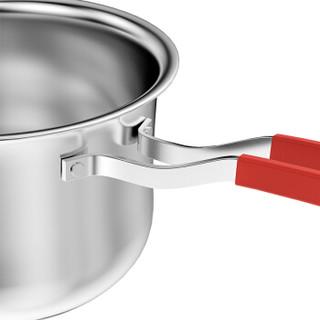 四季沐歌(micoe)304不锈钢复底奶锅不粘锅宝宝辅食婴儿牛奶锅 电磁炉通用可视锅盖