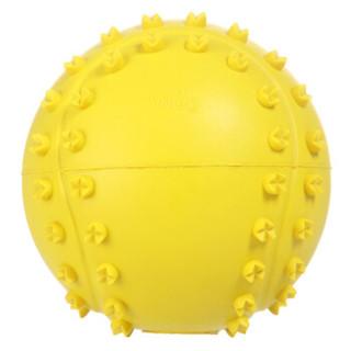 好友宠友 橡胶发声网球 宠物玩具狗狗玩具 成犬幼犬互动解闷训练发声玩具球 黄色