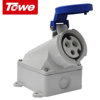 同为(TOWE)IPS-S316S工业连接器明装插座工业插头插座3芯2P+E母头