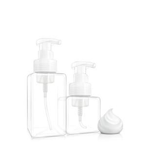 加加林 慕斯起泡瓶打泡瓶洗发水洗手液空瓶子按压发泡沫分装洗面奶起泡器 透明250ml
