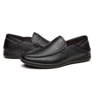 红蜻蜓 (RED DRAGONFLY) 舒适百搭休闲男士驾车鞋 WTA74231/32 黑色 42